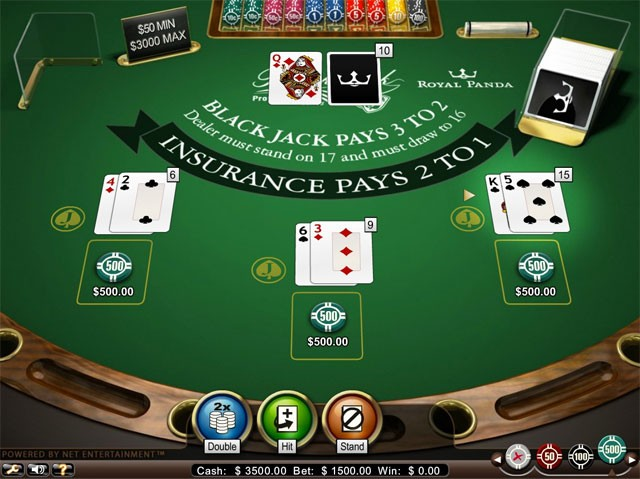 Blackjack hit stand split double