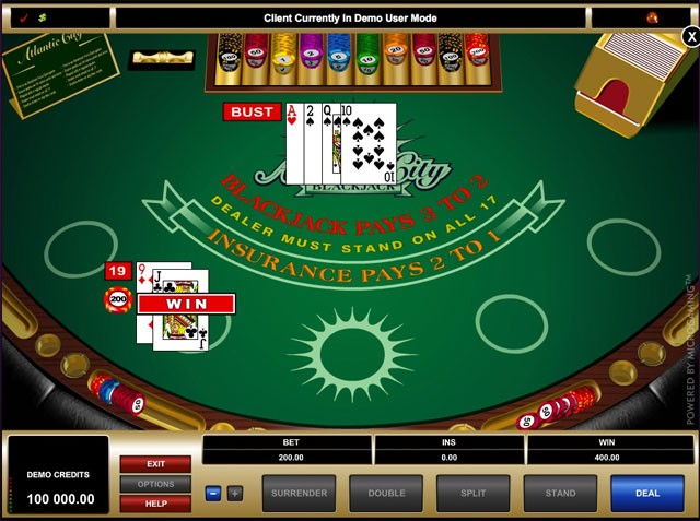 Atlantic City Blackjack – Play Atlantic City Blackjack Online
